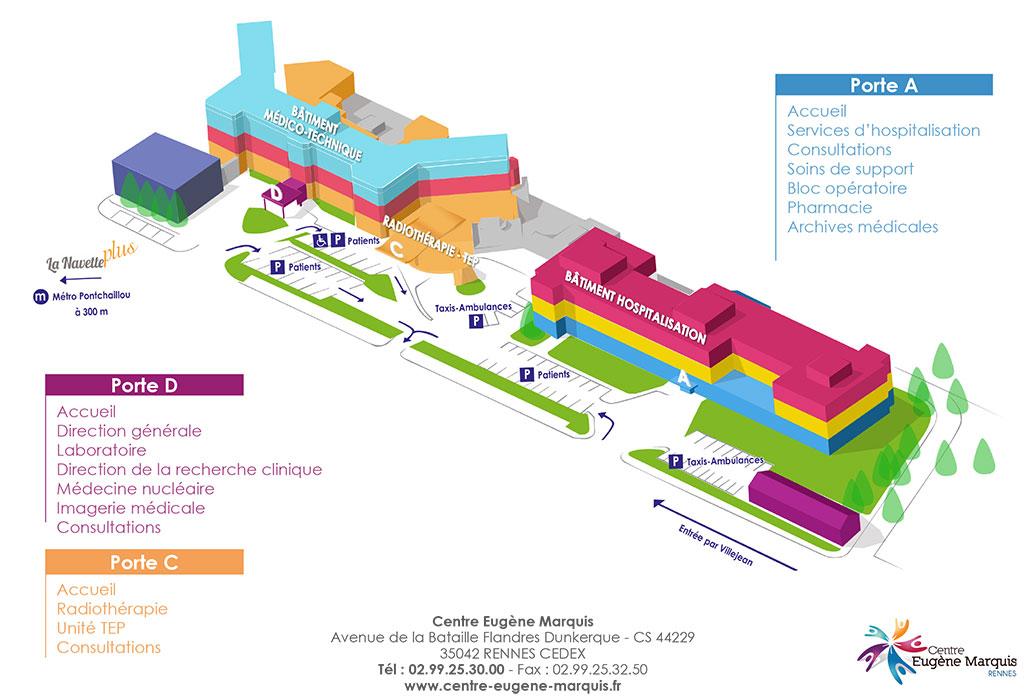 Plan du Centre Eugène Marquis